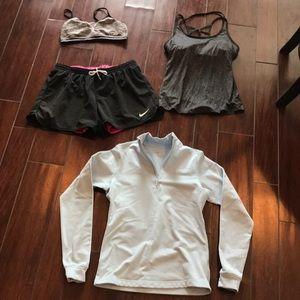 4 pc bundle medium athletic clothing Nike +